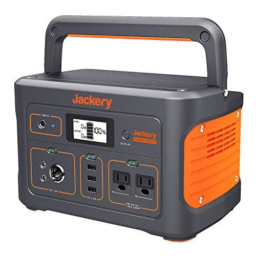 Jackery Portable Power Source, 700 Large Capacity, 192,000 mAh/700 Wh, Household Batteries, Backup Power Supply, PSE Certified, Genuine Sine Wave, AC (500 W, Maximum 1,000 W), DC/USB Output, 4 Charging Methods, Large LCD Screen, Staying in Car, Camping, Outdoors, Emergencies Power Outage, Solar Charging, 2 4 Month Warranty
