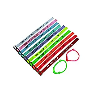 20 plus 2 WWJD Bracelets – What Would Jesus Do Woven Wristbands Per Pack – Religious Christian WWJD Bracelet for fundraisers Neon, Pastel Color, 20 pieces plus 2, Perfect for men women boys and girls