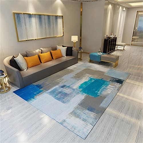 Alfombra Exterior Alfombra de Sala de Estar Alfombra Azul Graffiti Retro apresurando Alfombra Anti-mitón Azul alfombras Salon Grandes 80x120cm Alfombra de Juegos 2ft 7.5''X3ft 11.2''