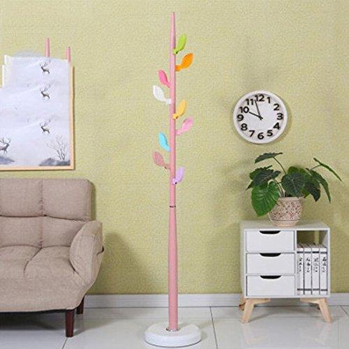 WLH- Simple Kapstok Simple Modern Hangende Floor Fashion Creative Kleren Shelf Indoor Children's Bedroom Hanger (Color : Pink)