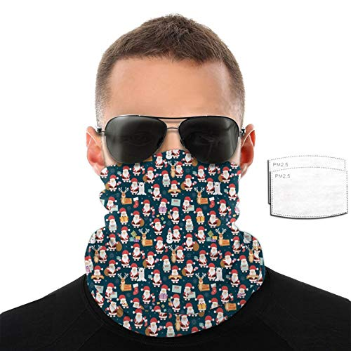 Christmas With Santa Claus Reindeer Bear And Gifts Men Women Outdoor Sports Windproof Breathable Variety Face Towel