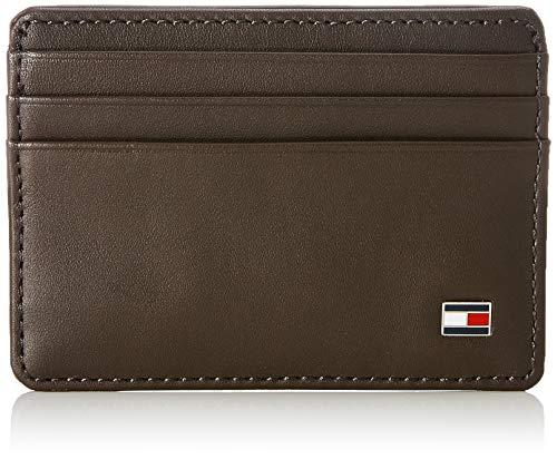 Tommy Hilfiger Eton Cc Holder Porta Carte di Credito, 75 cm, Marrone