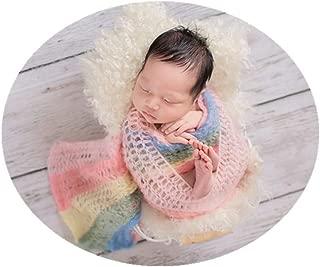 Fashion Cute Newborn Boys Girls Baby Photography Props Blanket Rainbow Wrap Cloth