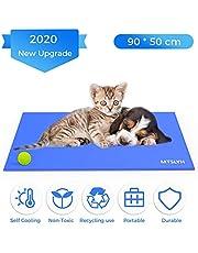 Yerloa Pet Cooling Mat Haustier kühlmatte Kühlmatte für Hund & Katze Haustier Eismatte Selbstkühlende Matte Hunde Matte Haustier Matte für Kisten, Hundehütten und Betten