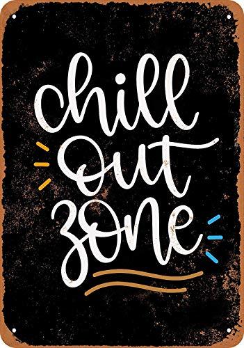 KELLEN WHITEHEAD Chill Out Zone Affiche De D/écoration Dr/ôle De Panneau De Mur en M/étal Art