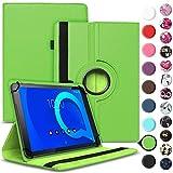 Tablet Hülle kompatibel für Alcatel 1T 10 Tasche Schutzhülle Hülle Schutz Cover 360° Drehbar 10.1 Zoll Etui, Farbe:Grün