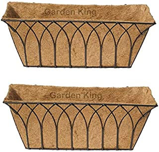 GARDEN KING 24 Inch Wall Trough Black for Indoor and Outdoor(Set of 2, Size: Length: 24 Inch or 60cm, Width-18.5cm, Height...