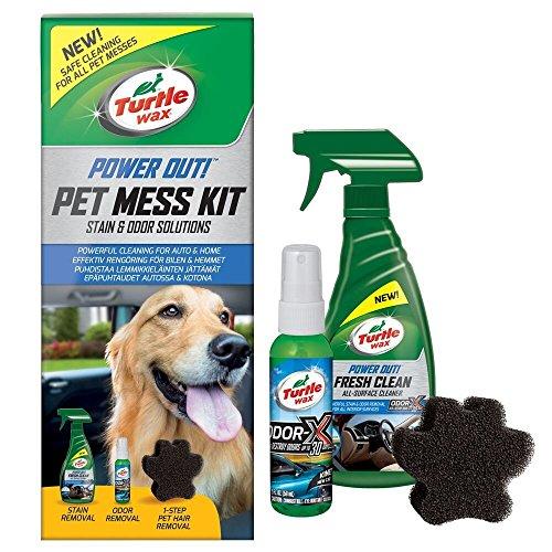 Turtle Wax Pet Mess Kit de Manchas para Mascotas, olores y removedor de...