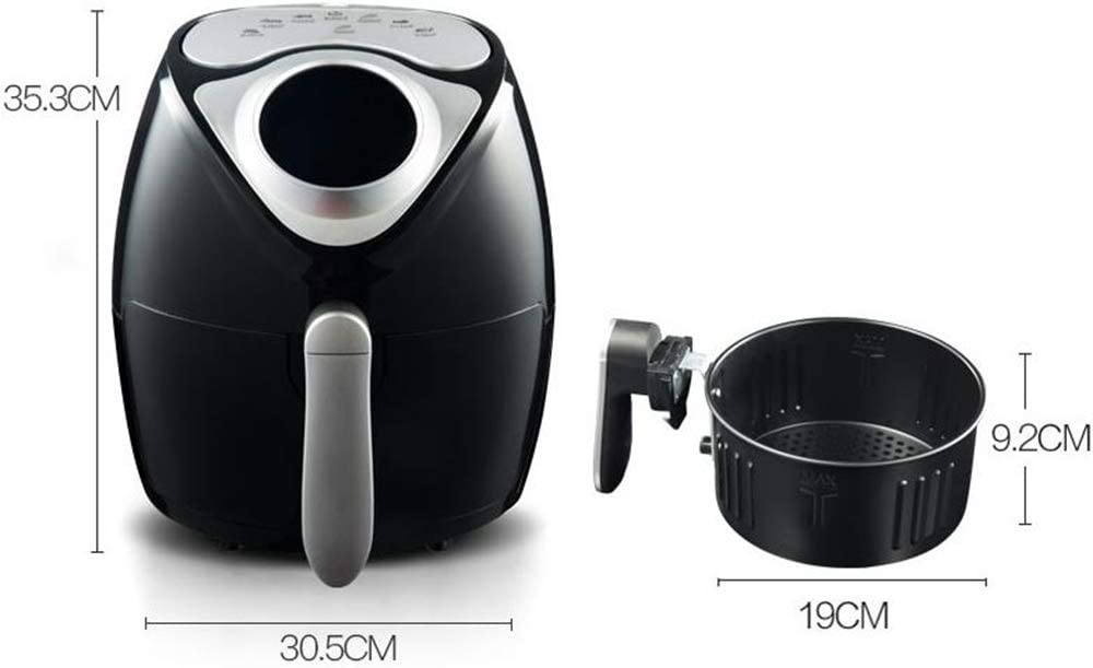 Air Fryer Household Smart Touch Screen Elektrische Fryer Oil-Free 3.5L Capacity Frieten Machine,Black White
