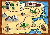 12 cartes d'invitation anniversaire enfant thème 'les pirates'// cartes invitations filles garçons enfants carte invitation, carte chasse au trésor carte recherche du trésor, carte fête des pirates