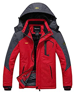 Wantdo Men's Mountain Waterproof Ski Jacket Windproof Rain Jacket Winter Warm Snow Coat (B00NHO4WCS) | Amazon price tracker / tracking, Amazon price history charts, Amazon price watches, Amazon price drop alerts