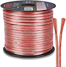 250ft 18 Gauge Speaker Wire - 1 Piece Copper Cable in Spool for Connecting Audio Stereo to Amplifier, Surround Sound System, TV Home Theater and Car Stereo - Pyle PSC18250