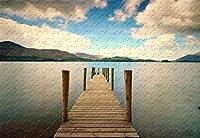 釣り桟橋500ピースジグソーパズル20.6X15.1木質の有名な絵画壁画
