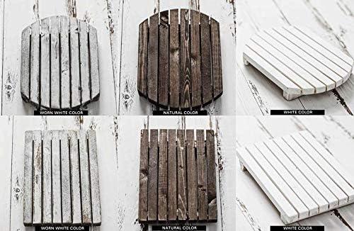 3 Rectangular Shape お得なキャンペーンを実施中 Wood 永遠の定番モデル Saucer: F White Color Worn