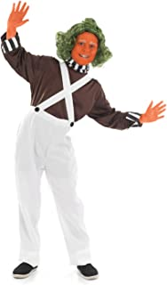 fun shack Boys Chocolate Factory Costumes Kids Oompa Loompa & Owner Outfits