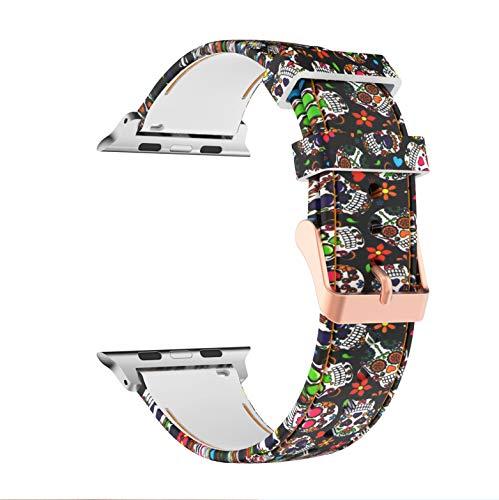 Sycreek Cinturino in Silicone Modello Compatibile per Apple Watch 38mm 40mm 42mm 44mm Uomo Donna,Cinturino di Ricambio Impermeabile Leggero Compatibile con iWatch Series 5 4 3 2 1