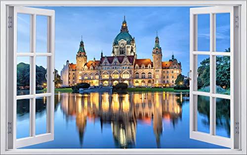 City Skyline Hannover Schloss Wandtattoo Wandsticker Wandaufkleber F1473 Größe 40 cm x 60 cm