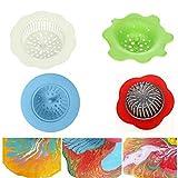 Hinter Ausgießsieb, Acryl, Silikon, Blumen-Abflusssieb zum Ausgießen von Acrylfarbe und Erstellen von einzigartigen Mustern und Designs, auch als Spüle Wasserfilter/Küchenspüle Abfluss 4 Stück - 5