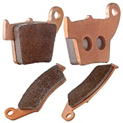 Fits Honda CR125R CR250R CRF450R FA185 FA346 (see description below) Position: Front and Rear Packaging: 2 Pairs(4 Pads) Material: Sintered Brake Pads Designed for Maximum Stopping Power and Long Usable Life