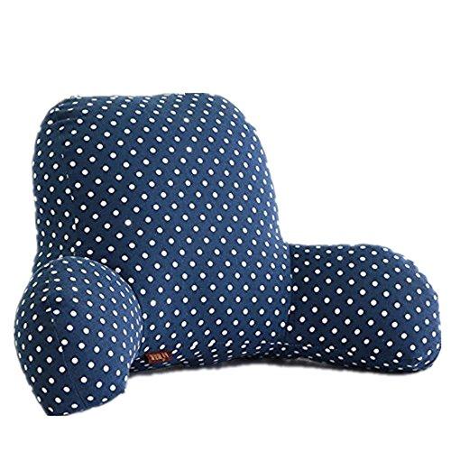 Colorfulworld Lendenkissen Stützkissen Bedrest Weich Plüsch Kissen für Auto, Bett, Büro-Stuhl und Sofa (65x40x26cm) (06)