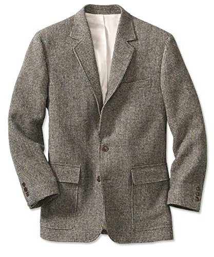 Orvis Lightweight Highland Tweed Sport Coat / Regular, Gray/Tan/White, 40
