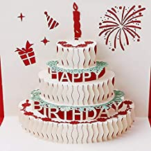 3D Pop Up Card - Birthday Card 3D Stereoscopic Paper Laser Cut Children Birthday Handmade Post Cards Custom Gift Greeting Cards Souvenirs nice