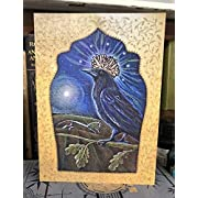 Queen of The Night Greetings Card from The Artist Hannah Willow, Raven Card with Oak and Landscape Birthday Card, Art Card