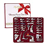 Madam Sew Presser Foot Set 32 PCS - The ONLY Sewing Machine Presser Foot Kit with Manual, DVD and Deluxe Storage Case with Numbered Slots for Easy and Neat Organization