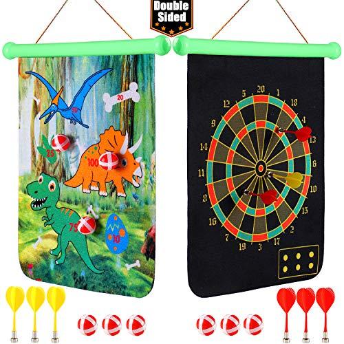 vamei Magnetische Dartscheibe für Kinder Mit Sticky Ball Darts Doppelseitiges Sportbrettspiel Indoor Outdoor Wurfspiel für Kinder Kinder Kleinkinder