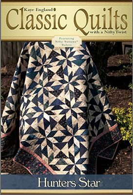 """Kaye England Classic Quilts Pattern - Hunter's Star (71"""" x 83"""") for Nifty Notions"""