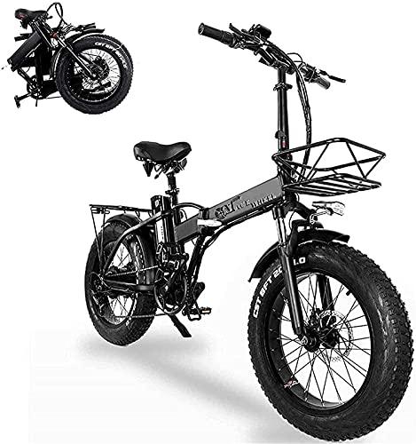 Bicicleta electrica Bicicleta eléctrica plegable de 20 pulgadas con 48V Movible 15Ah Batería de iones de litio de litio Bicicleta eléctrica, equipada con equipo electrónico y bicicleta única desmontab