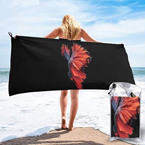 Toallas de Playa Toallas de baño compactas portátiles de Microfibra sin Arena, Manta de Toalla de Camping súper Liviana de Secado rápido Original con Plumas