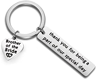 Brother of The Bride Gift Brother Keychain Thank You for Being A Part of Our Special Day Wedding Party Gift Brother of The Groom Keyring
