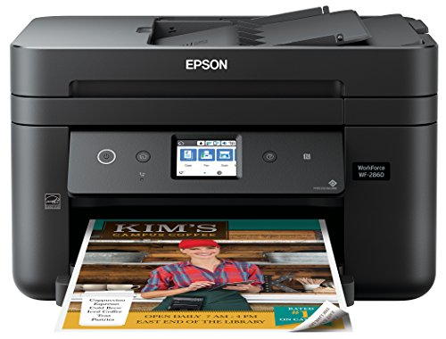 Epson WorkForce WF-2860 All-in-One Wireless Color Printer with Scanner, Copier, Fax, Ethernet, Wi-Fi Direct and NFC, Amazon Dash Replenishment Enabled