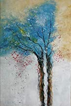 Wieco Art Tree of Life Pure Hand-Painted Paintings on Canvas Abstract Canvas Wall Art for Living Room Bedroom Wall Decor Modern Contemporary Artwork for Home Decorations and Office Decor AB1129-6090