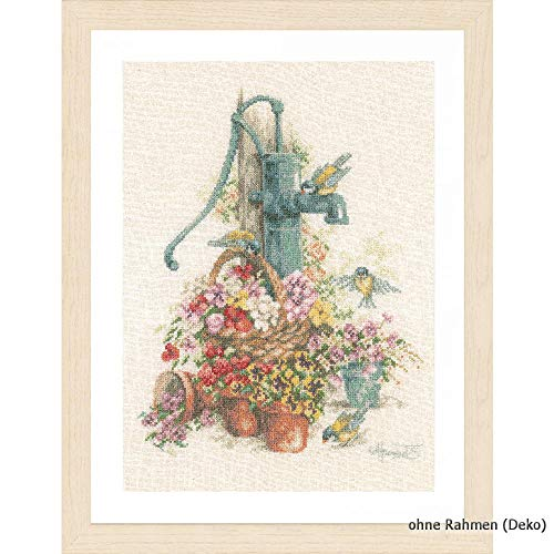 Girl with Flower Hair PN-0144519 Lanarte Counted Cross Stitch Kit