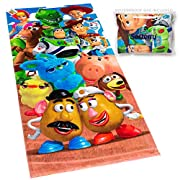 """✔ WARNING: Only Softerry can guarantee you will receive the OFFICIAL DISNEY towel with SOFTERRY WATERPROOF BAG. Size: 28""""x 58"""" (70x147cm). Soft velour on the front side and loop terry on the reverse side. Towel will get more absorbent, thick and soft..."""