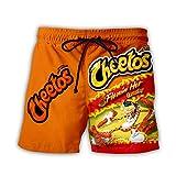 PLstar Cosmos Unisex Galaxy Pockets 3D Pullover Hoodie Hooded Sweatshirts Hoodies (Cheetos-Short-Orange, L-XL)
