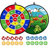 "2 Pack 29"" Board Games for Kids, Large Dart Board for Kids with 20 Sticky Balls, Indoor/ Sport Outdoor Play Game Toys, Birthday Gifts for 3 4 5 6 7 8 9 10 11 12 Year Old Boys Kids Girls Toddlers"