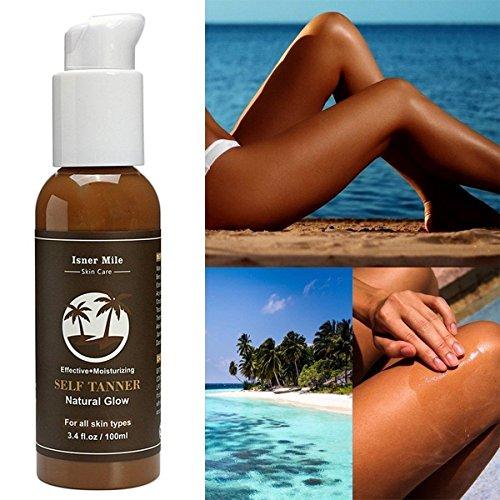 GARYOB Self tanner bronzage sans soleil lotion-ingrédients biologiques et naturels et meilleur bronzer or constructible léger, bronzage progressif idéal pour le corps et le visage