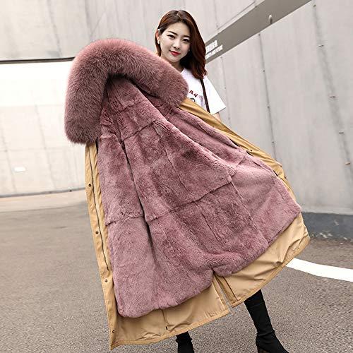 QIA Womens Long verdicken windundurchlässiger Parka, Removable Liner Winter-Winddicht mit Kapuze Outwear Warmer Mantel (M-XXXL),H,M