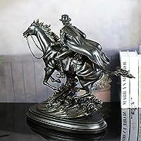V3 Officeの樹脂工芸ヨーロッパとレトロなホームデコレーションイミテーション銅西部カウボーイの彫刻装飾のビジネスギフト56 * 21 * 51(cm)の