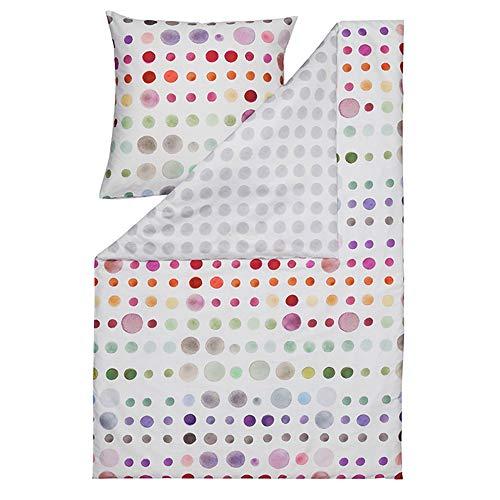 ESTELLA Bettwäsche Spot   Multicolor   135x200 + 80x80 cm   Mako-Satin mit seidigem Glanz   trocknerfest   atmungsaktiv und anschmiegsam   100% Baumwolle