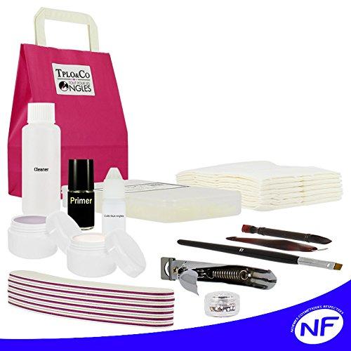 Kit gel UV 'DISCOUNT' kit de démarrage pour faux ongles, french sans lampe