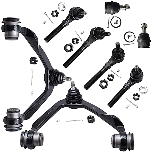 Detroit Axle - Complete 4x4 Upper Control Arm with Ball Joints Inner Outer Tie...