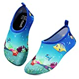 mysoft Kids Water Shoes Quick Dry Non-Slip Toddler Water Skin Barefoot Sports Swimming Beach Pool Shoes for Boys & Girls