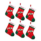 by Robelli Pack of 6 Festive Xmas Stockings for Pet Cats (Santa Paws)