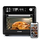 COSORI Smart 12-in-1 Air Fryer Toaster Oven Combo, Countertop Dehydrator for Chicken, Pizza and Cookies, Christmas Gift, Work with Alexa and Google Home, 25L, Black