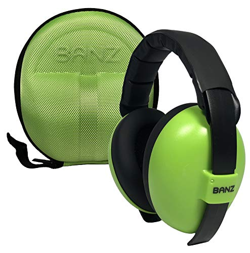 BANZ Earmuffs with Case – Infant Hearing Protection – Ages 0-2+ Years – The Best Headphones for Babies & Toddlers – Industry Leading Noise Reduction Rating – Block Noise (Green)