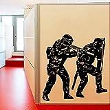 yaonuli Inicio Sala de Estar habitación Pegatina de Pared Decorativa Dos calcomanías de Pared de Vinilo de Soldado de policía únicas 106x106cm